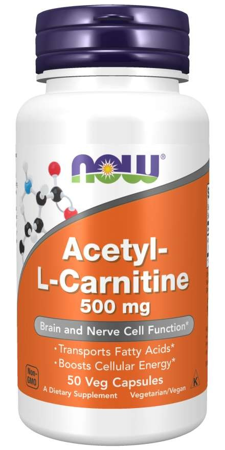 Acetyl-L-Carnitine 500 mg 50 Veg Capsules