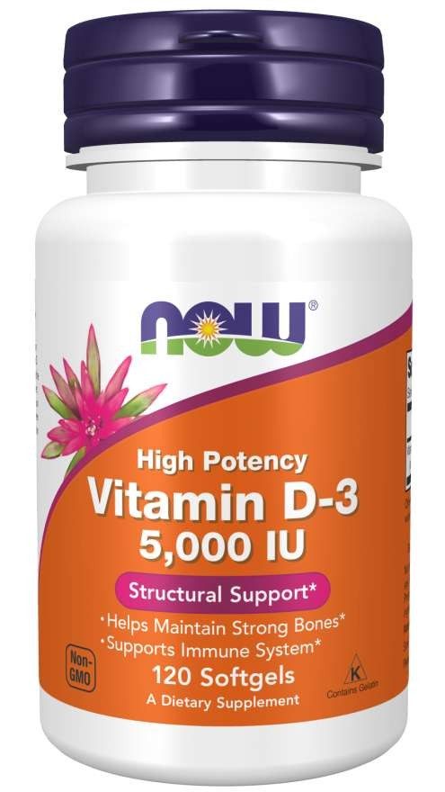 Vitamin D-3 5000 IU 120 Softgels
