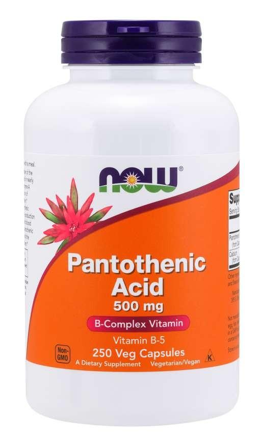 Pantothenic Acid 500 mg 250 vcaps B-Complex Vitamin