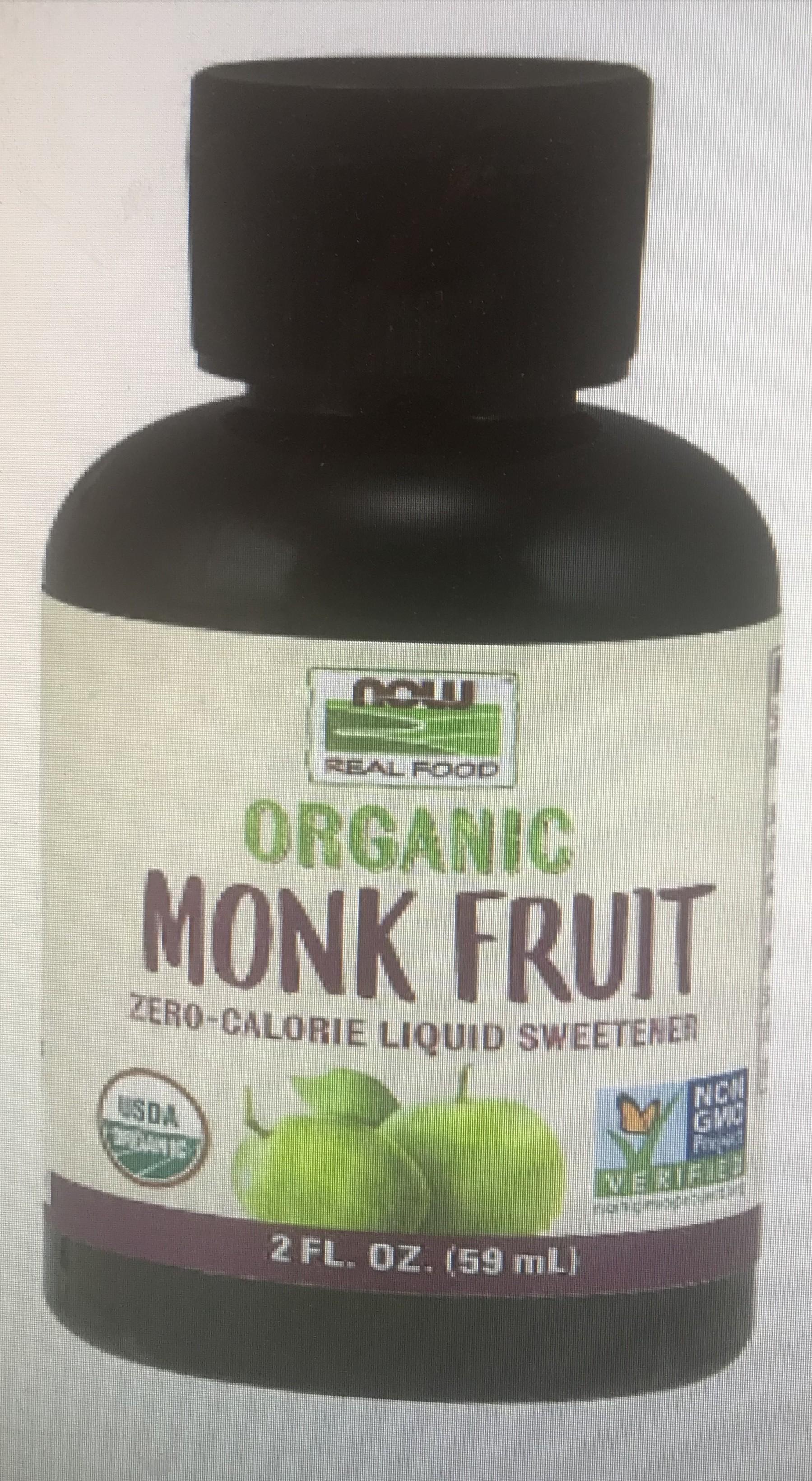 Monk Fruit Liquid 2 oz organic