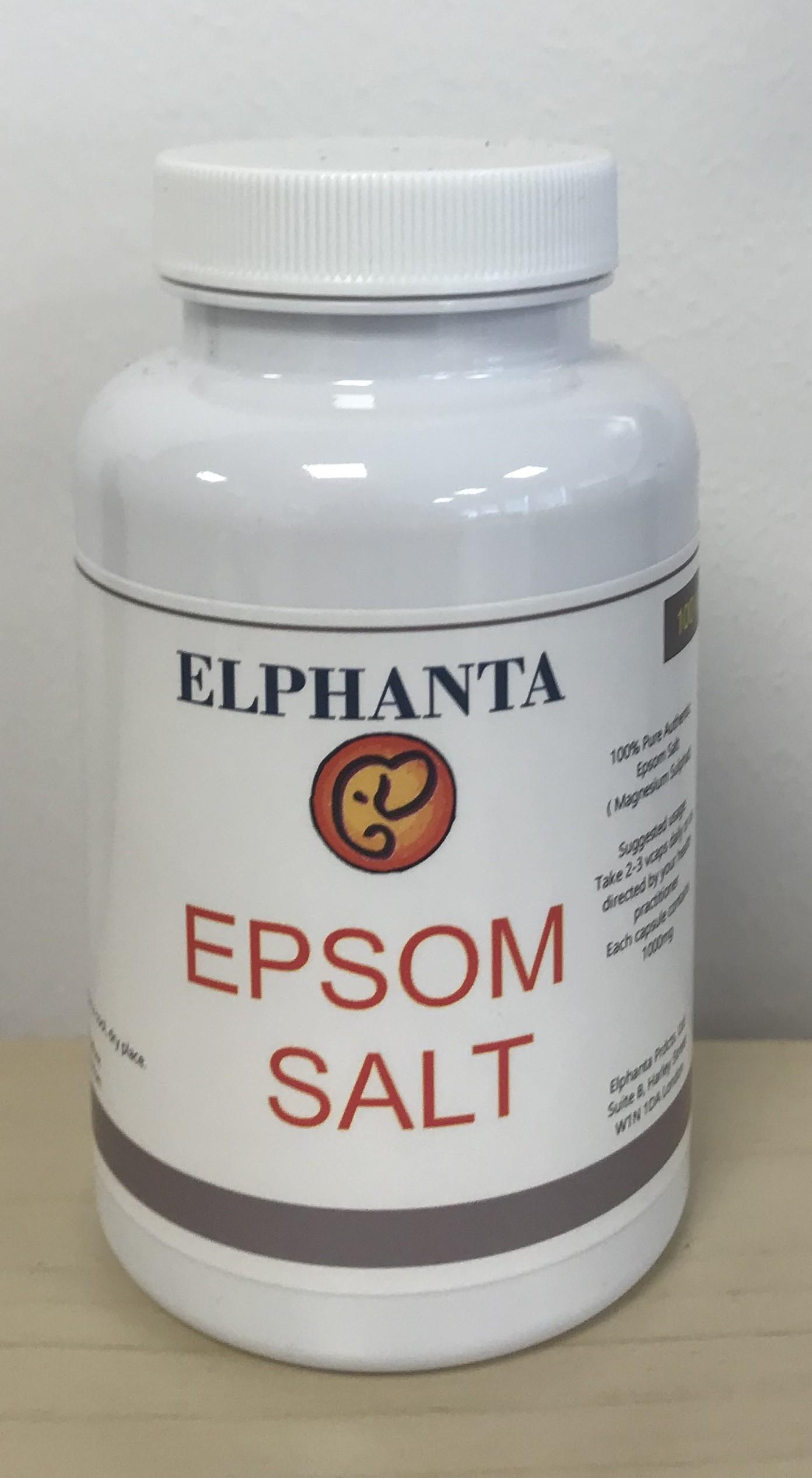 Epsom Salt 100 % pure 100 vcaps