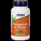 Fenugreek( bukkehorn)350 mg og Timian 150 mg 100Vcaps