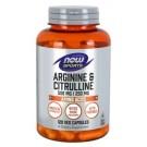 Arginine 500 mg & l-citrulline 250 mg 120 vcaps