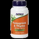 Fenugreek(bukkehorn)350 mg og Timian 150 mg 100Vcaps