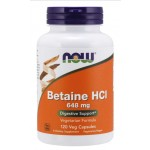 Betaine HCl 648 mg - 120 Caps