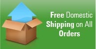Free domestic shippings